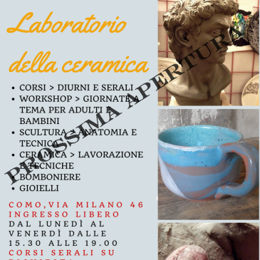 Laboratorio della ceramica: e si parla di scultura.